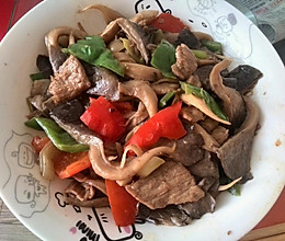 平菇炒肉的做法