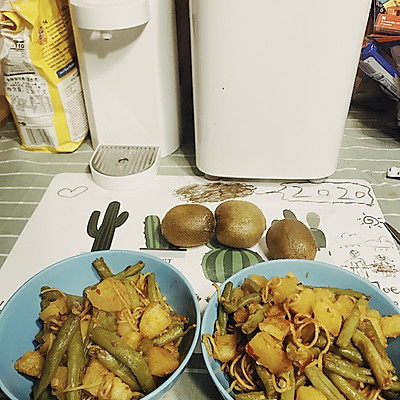 素土豆豆角焖面