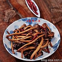 干煸茶树菇的做法图解5