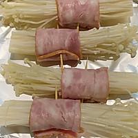 零失误金针菇培根卷的做法图解4