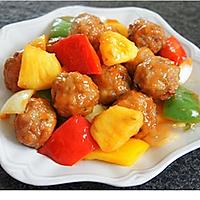夏日下饭菜:酸甜可口的菠萝古老肉丸