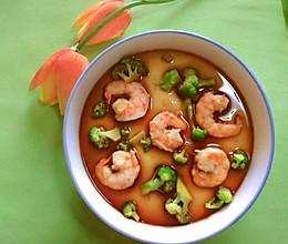 #我们约饭吧#超滑嫩的西蓝花虾仁蒸鸡蛋羹的做法