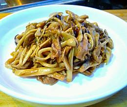 孜然菌菇小炒肉的做法