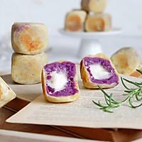 棉花糖紫薯仙豆糕#网红美食我来做#的做法图解19