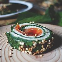 三文鱼菠菜卷【安卡西厨】