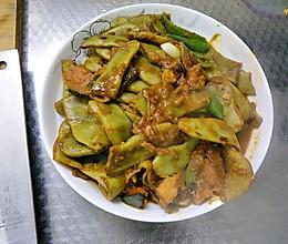 东北炖菜~南瓜炖豆角的做法