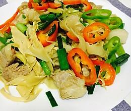 水笋炒肉的做法