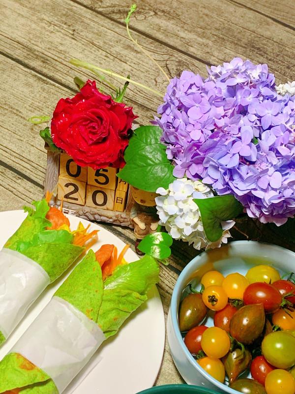520蔬菜卷的做法