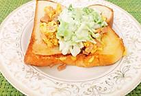 鸡蛋包菜三明治的做法