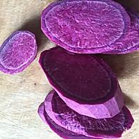 紫薯麻薯饼的做法图解1