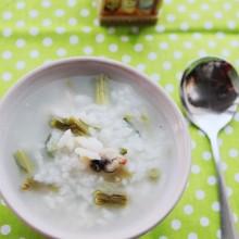 榄菜蛤蜊粥