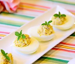早餐-简单好吃的吞拿鱼鸡蛋杯(魔鬼蛋)的做法