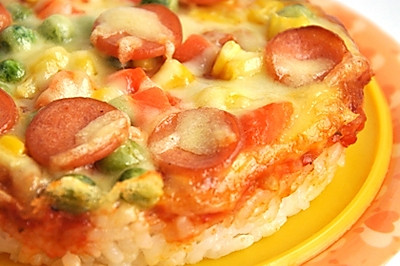 米饭香肠小批萨