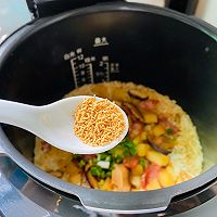 #憋在家里吃什么#香菇土豆腊肠焖饭的做法图解20