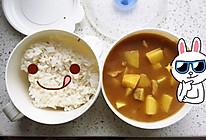 咖喱土豆猪肉饭的做法