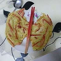 简单的懒人快手早餐午餐~百吃不厌 锅塌子 (西葫芦丝鸡蛋饼)的做法图解11