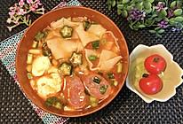 秋葵番茄面片汤的做法