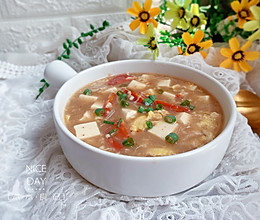 #肉食者联盟#番茄豆腐糁汤的做法