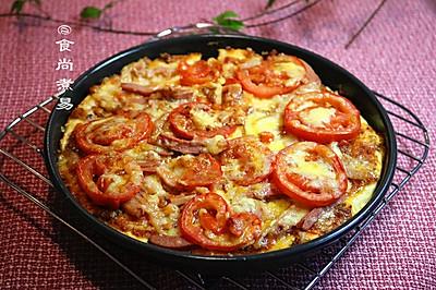 番茄鸡肉肠厚底披萨#自己做更健康#