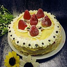 草莓千层蛋糕(可丽饼蛋糕)三能蛋卷模具制作 免烤蛋糕