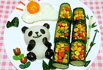 """暖阳下""""小熊猫吃竹子""""儿童餐的做法"""