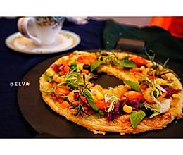 10分钟圣诞手抓饼花环披萨#圣诞烘趴 为爱起烘#的做法