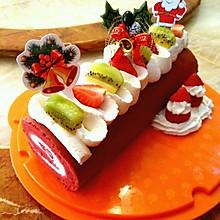 圣诞蛋糕#红丝绒草莓蛋糕卷#【甜蜜配方】