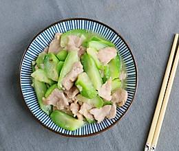 丝瓜炒肉片的做法