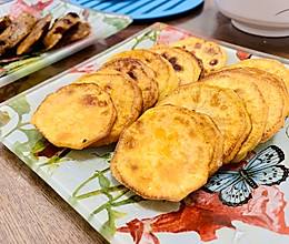 简单小零食,炸红薯片的做法