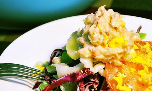 金枪鱼蔬菜沙拉【雄鸡标沙拉酱金枪鱼试用】的做法