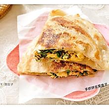 #麦子厨房#美食锅之手抓饼韭菜盒子