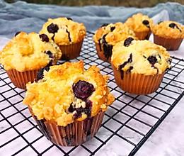 #带着美食去踏青#PH大师的金宝酥顶蓝莓马芬的做法