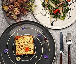 洋蓟火鸡千层面配藜麦沙拉的做法