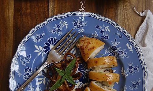 香烤糯米鱿鱼筒的做法