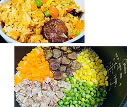 上班族带饭必备-香肠饭的做法