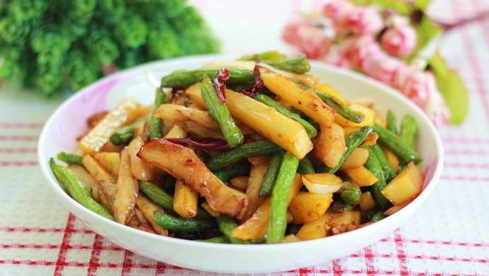 餐馆点餐率极高的下饭菜——烧茄子豆角。