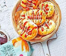 #爱好组-高筋#葱香火腿面包的做法