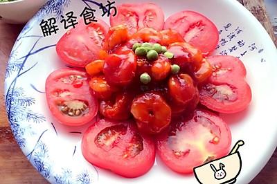 番茄沙司炒虾仁