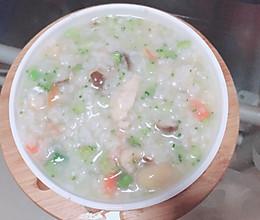 鸡肉蔬菜粥的做法
