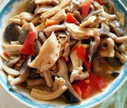 腐竹炖磨菇的做法
