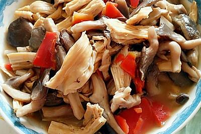 腐竹炖磨菇