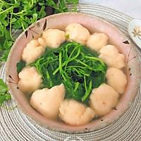 #春季减肥,边吃边瘦#虾丸草头汤的做法图解7