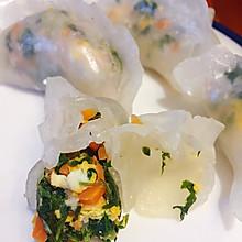 荠菜水晶虾饺