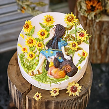 浪漫情怀奶酪霜裱花蛋糕