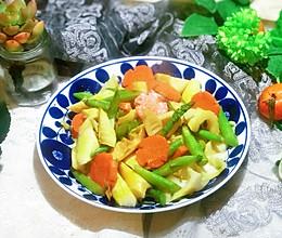 炒双笋(芦笋竹笋)#春季食材大比拼#的做法