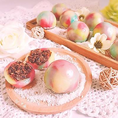 梦幻彩红蜜红豆糯米糍 Q弹软糯和菓子麻薯小吃零食下午茶