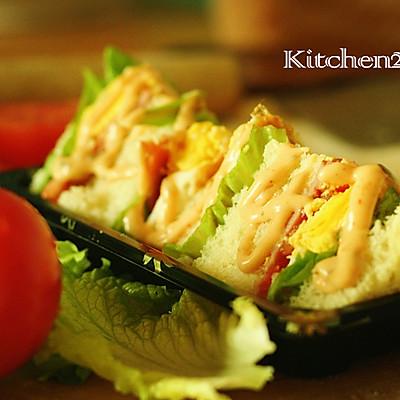 美味无极限的三明治——百吉福芝士片创意早餐菜谱