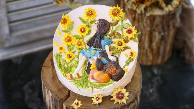浪漫情怀奶酪霜裱花蛋糕的做法