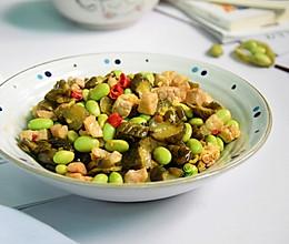 #今天吃什么#咸菜毛豆炒肉的做法