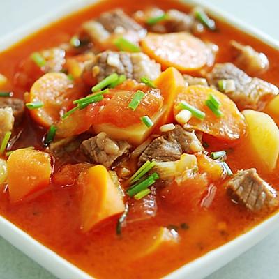 西红柿土豆炖牛腩